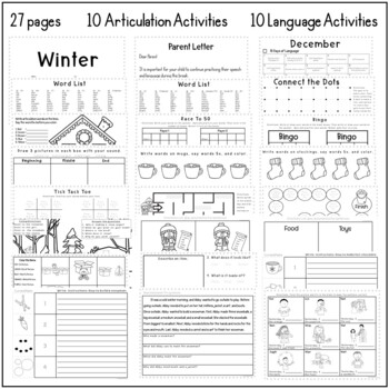 Winter Practice For Speech and Language