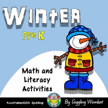Winter Pre K Math and Literacy