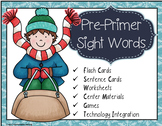 Winter Pre-Primer Sight Words Centers, Games, QR Codes, iP