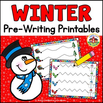 Winter Pre-Writing Printables
