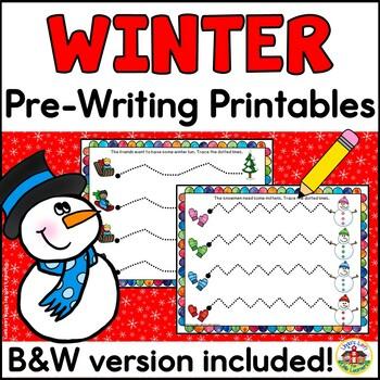 Winter Pre-Writing Printables