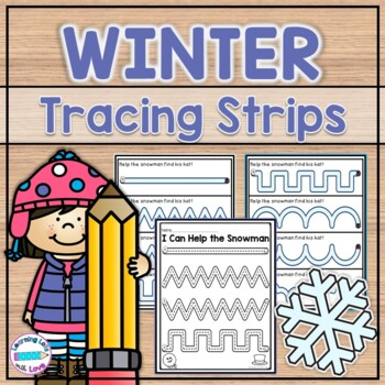 Winter Pre-Writing Tracing Strips