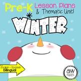 Winter Pre-k Thematic Unit with Lesson Plans - Spanish English Bilingual