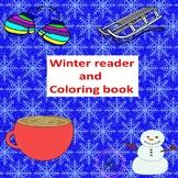 Winter PreK, Kindergarten, Winter Emergent reader and colo