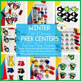 Winter PreK Math and Literacy Centers and Fine Motor Activ