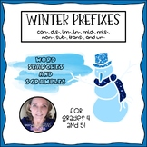 Winter Prefix Word Searches and Scrambles