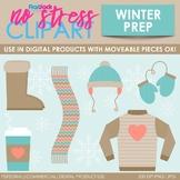 Winter Prep Clip Art (Digital Use Ok!)