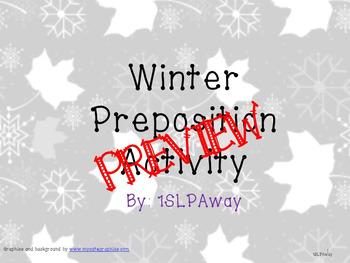Winter Preposition Activity