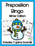 Winter Preposition Bingo