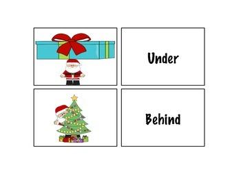 Winter Preposition Cards