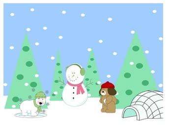 Winter Preposition Scene