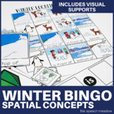 Winter  Prepositions Bingo