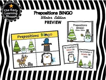 Winter Prepositions Bingo Game *10 Boards*