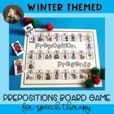 Winter Prepositions Board Game Freebie