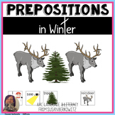 Prepositions in Winter Activity Speech Language Therapy AAC