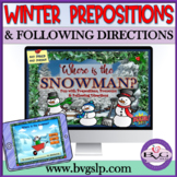 BOOM Cards Prepositions, Pronouns, Following Directions Teletherapy Winter
