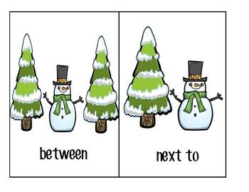 Winter Prepositions Visuals