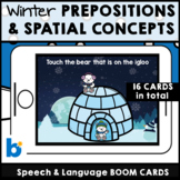 Winter Prepositions and Spatial Concepts * Boom Cards *