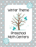 Winter Preschool Math Centers
