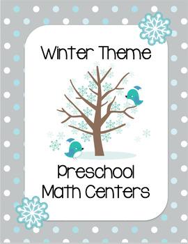 Winter Preschool Math Centers