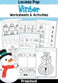 Winter Preschool No Prep Worksheets & Activities