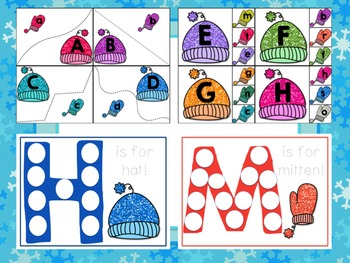 Winter Preschool Pack: Hats and Mittens Math and Literacy Resources