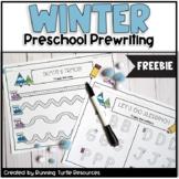 Winter Preschool Prewriting FREEBIE