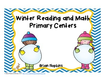 Winter Primary Reading and Math Centers
