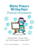 Winter Writing Paper: Primary (Portrait Orientation)