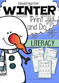 Winter Print & Do ~ Literacy Printables