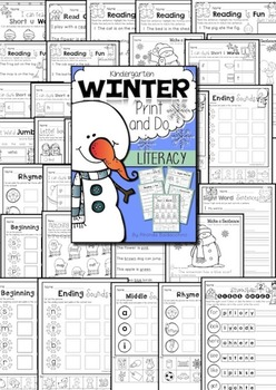 Winter Print & Do ~ Literacy and Maths Printables
