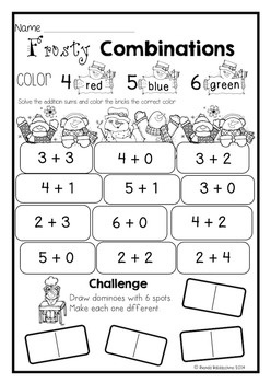 Winter Print & Do ~ Maths Printables