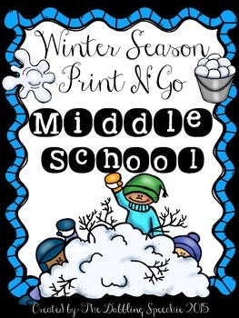 Winter Print N' Go for Middle School