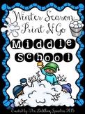 Winter Speech & Language Print N' Go for Middle School