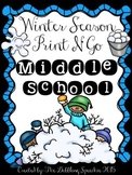 Winter Speech & Language Print N' Go for Middle School