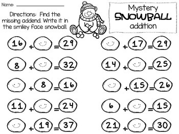 Winter Print & Practice Activities - 2nd Grade Math (Common Core Aligned)