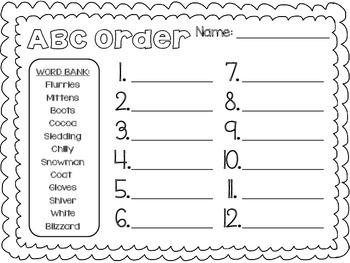 Winter Print & Practice Activities - 2nd grade Grammar ...