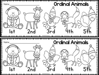 """Winter """"Print & Practice"""" pack for Kinder (literacy and math)"""