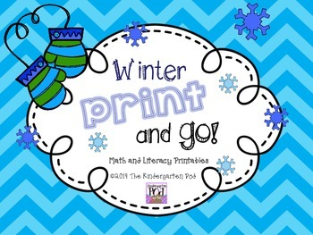 Winter Print-and-GO: Math and Literacy Centers for Kindergarten