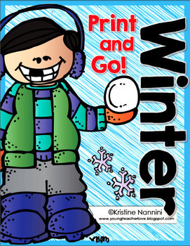 Winter Print and Go Freebie {4th and 5th Grade English Language Arts CCSS}