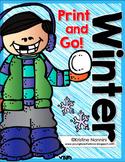 Winter Print and Go Freebie {4th and 5th Grade English Language Arts CCSS}