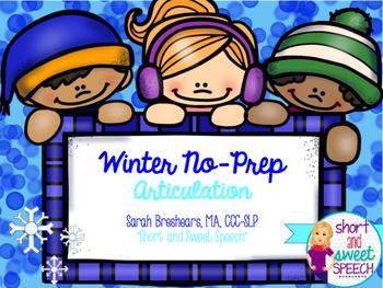 Winter No-Prep Articulation
