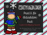 Winter Print and Go Articulation Pack Later Developing Sounds