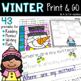 Winter Print and Go {ELA and Math}