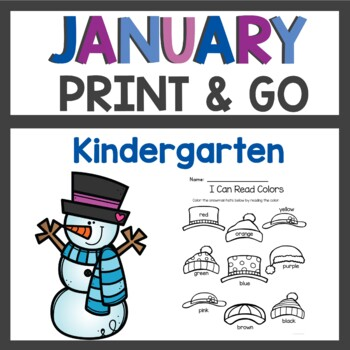 January Print and Go