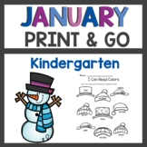 January Print and Go activities