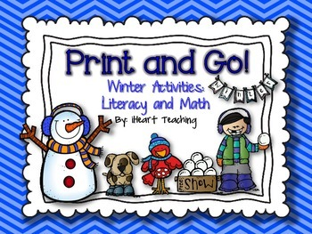 Winter Print and Go! {NO PREP Literacy and Math Activities}