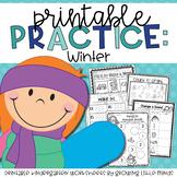 Winter Printable Practice