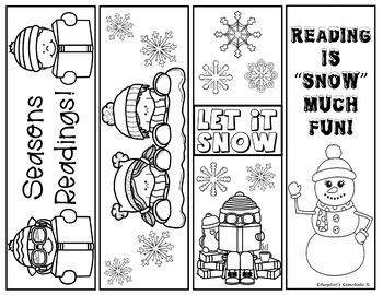 image relating to Printable Bookmarks Black and White identified as Winter season Printable Bookmarks