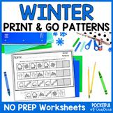 Winter Pattern Printables